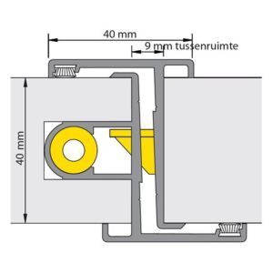 Deurnaald 19-1 245cm Rechts Nemef 600