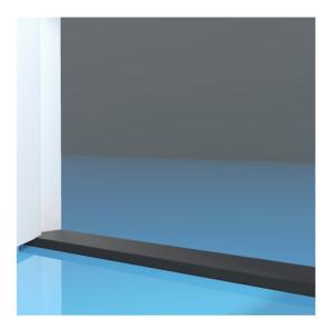 Stofdorpel kunststeen zwart 20x110x1000mm